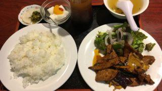 中華レストランよこはま思案橋店で冷やし中華とレバー炒めのランチ
