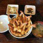 大村のてんよしで夢の海老天てんこ盛りの丼を食べた