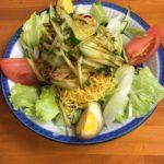 担々麺が有名な銅座の万徳の冷やし中華は、超極細麺の珍しい冷やし中華だった!